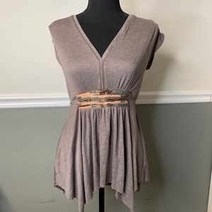 Anthropologie Beaded Deletta Top size Small
